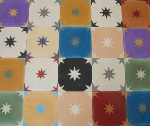 1m zementfliesen mediterrane spanische fliesen vintage. Black Bedroom Furniture Sets. Home Design Ideas