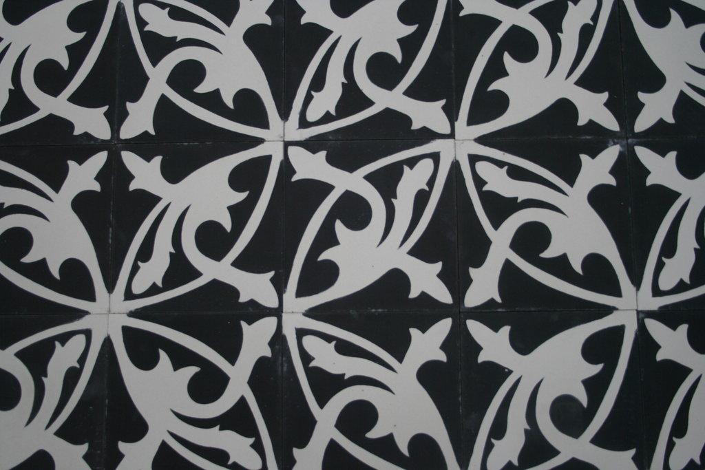 zementfliese mondial schwarz spanische fliesen bodenfliesen. Black Bedroom Furniture Sets. Home Design Ideas