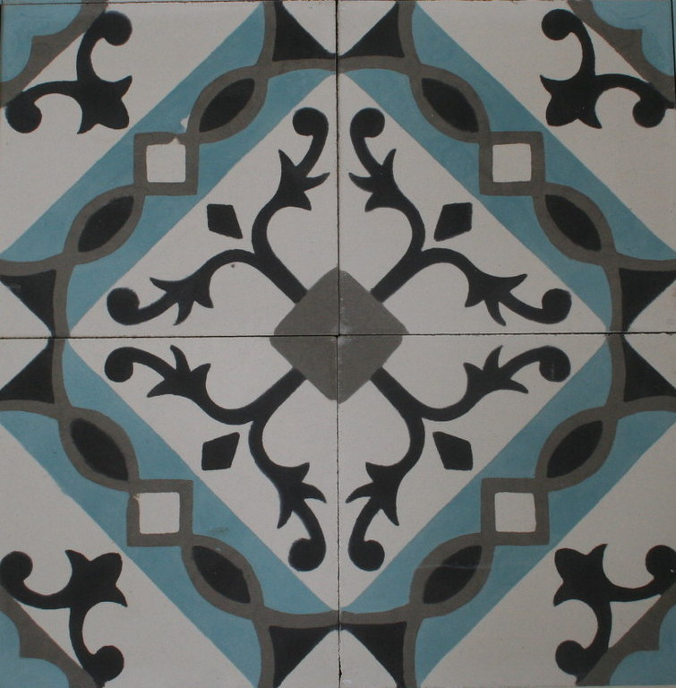 zementfliese arabia hellblau spanische bodenfliesen. Black Bedroom Furniture Sets. Home Design Ideas