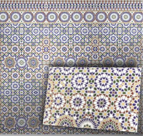 maurische spanische fliesen wandfliese bunt alhambra orientalisch. Black Bedroom Furniture Sets. Home Design Ideas
