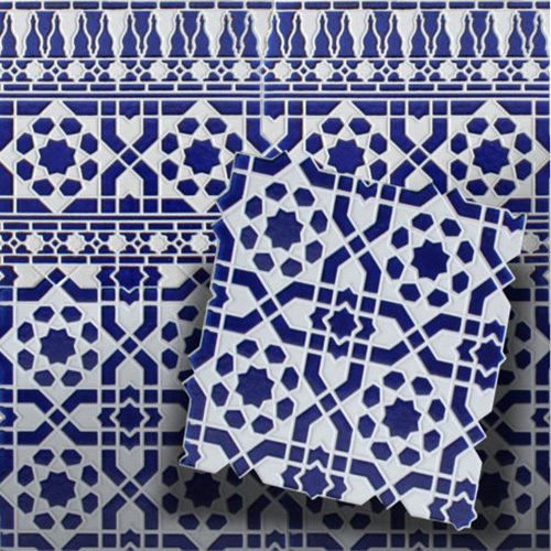mosaikfliese arabesco blau maurische spanische orient wandfliese. Black Bedroom Furniture Sets. Home Design Ideas