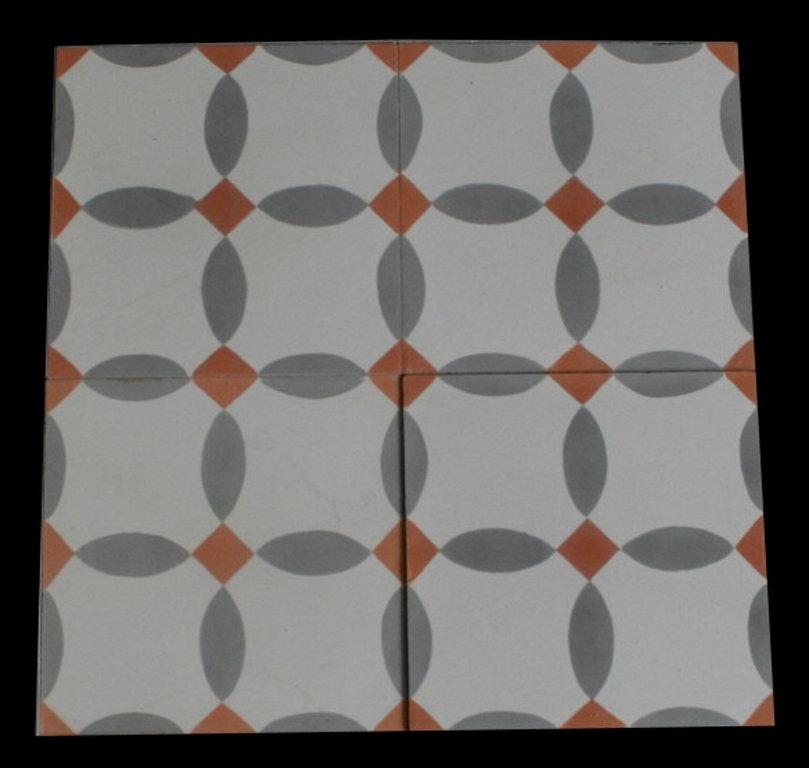 zementfliesen funduk grau orange vintage jugendstil fliesen. Black Bedroom Furniture Sets. Home Design Ideas