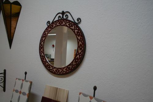 mosaikspiegel rund 41 cm rahmen zelliges gravur spiegel wanddeko geschenkidee ebay. Black Bedroom Furniture Sets. Home Design Ideas