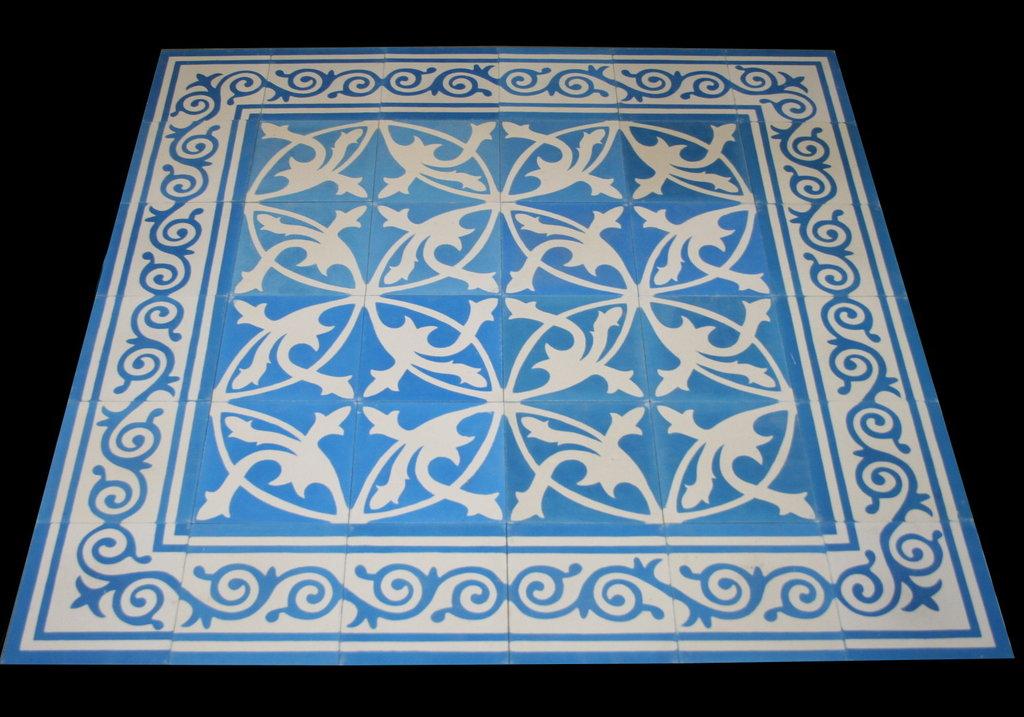 Zementfliese Mondial Blau Weiss Spanische Fliesen Bodenfliesen