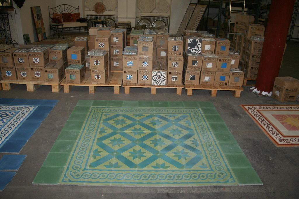 Fußboden Fliesen Grün ~ Bodenfliesen zementfliesen obelisk grün spanische fliesen