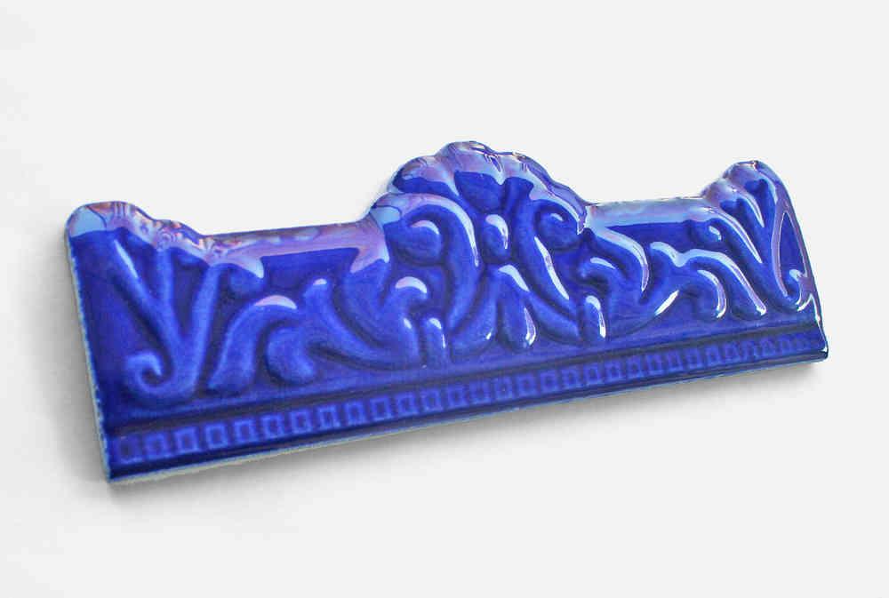 Extrem Stabbordüre Bordüre Keramikfliese Fliese blau Wandfliese Krone NH45