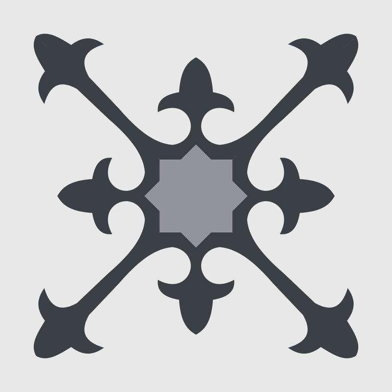 Zementfliesen Kompass weiss schwarz Vintage Jugendstil Fliesen
