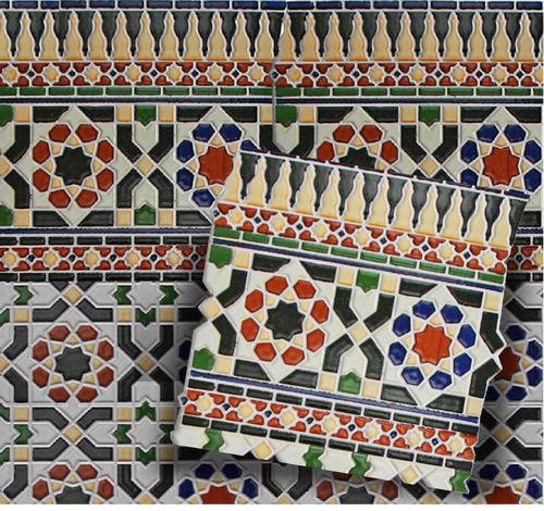 Wandfliesen Mosaikfliesen Im Spanischen Maurischen Stil Bunt - Mallorca fliesen shop
