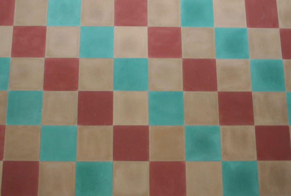 Fußboden Fliesen Rot ~ Zementfliesen patchwork uni beige rot grün bodenfliesen fliese
